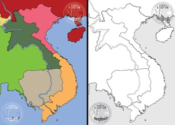 Map Clip Art: The Vietnam Conflict Map Set {Messare Clips and Design}