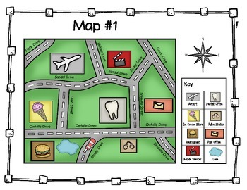 Map Direction Task Cards