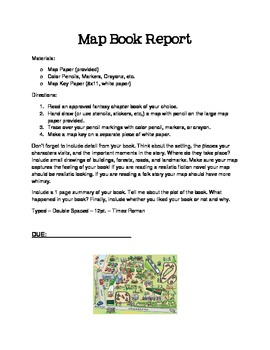 Map Fantasy Land Book Report