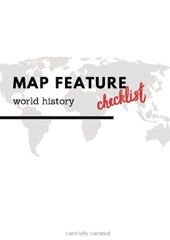Map Feature Checklist