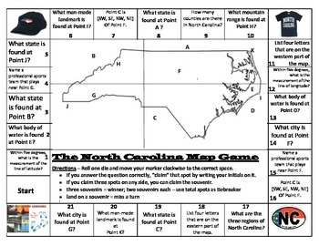 Map Game --  North Carolina