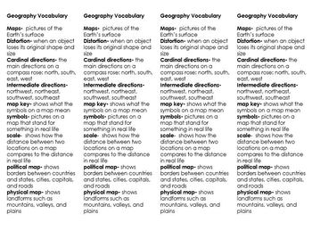 Map/Geography Vocabulary