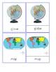 Map & Globe Terms - Montessori 3 - Part Cards