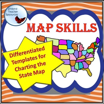 Map Hunt Chart Graphic Organizer for Teaching Map Skills Differentiated