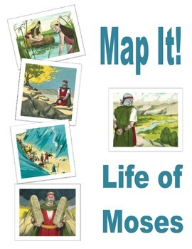 Map It! Life of Moses File Folder Game Freebie