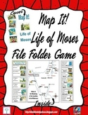 Map It! Life of Moses File Folder Game Freebie
