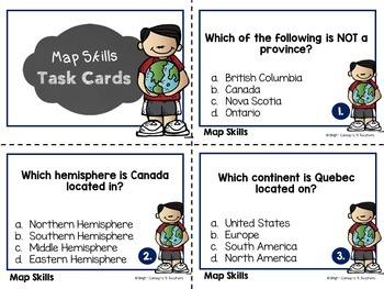Map Skills Unit {Canadian Version}