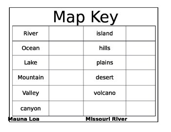 Map Key and labels