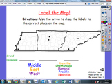 Map Labeling Activities: Continents, North America, USA, Tennessee