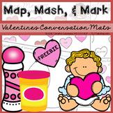 Valentines Conversation Exchange FREEBIE: Map, Mash, & Mark