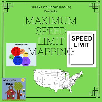 Map Maximum Speed Limits in United States