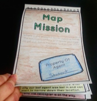 Map Mission: Map Skills Notebook Activity