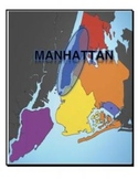 Map, New York, 5 Boroughs