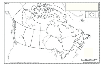 Bodies Of Water Canada Map.Canada Map 10 By Celtic Cow Publications Teachers Pay Teachers