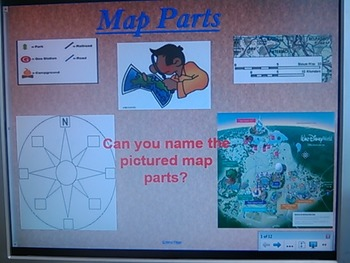 Map Parts SmartBoard Lesson and Activity