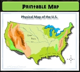 Map: Physical Map of US