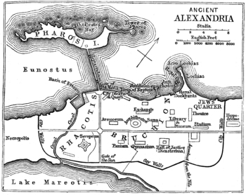 Map / Plan of Ancient Alexandria