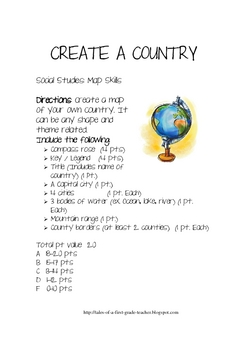 Map Project-Create A Country