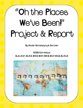Oh The Places We've Been! Map Project (Goes great with K Reading Street Unit 4)