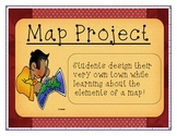 ** Geography Map Skills Project ** Encourages Creativity a