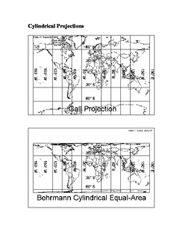 Map Projections problem based learning activity