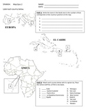 Map Quiz of Spanish Speaking Countries--Europe, Caribbean, Africa