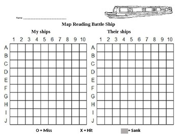 Map Reading Battle Ship