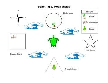 Map Reading for Pre-K / Kindergarten