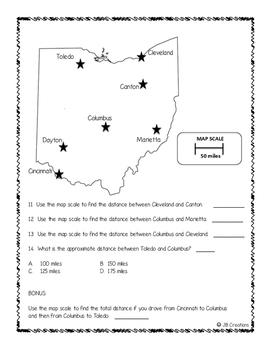 Map Scale Assessment (intermediate social studies)