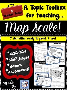 Map Scale Resources (An intermediate Social Studies bundle)