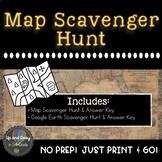 Parts of a Map,Google Maps & Google Earth Scavenger Hunt