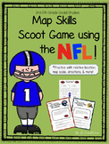 Map Skill Scoot with the NFL (3rd, 4th, 5th grade)