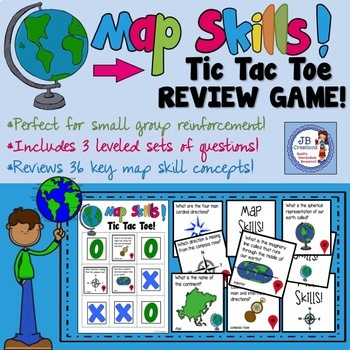 Map Skill Tic Tac Toe!  A differentiated map skill review game!