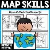 Map Skills - Maps, Globes, Continents, Oceans, Directions,