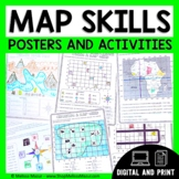Map Skills Unit -  Maps & Globes Activities | Distance Lea