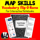 Map Skills Vocabulary Interactive Notebook