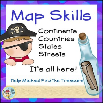 2nd, 3rd Grade Map Skills - Pirate Themed