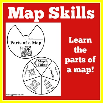 Map Skills Activity | Map Skills Craft | Maps | Parts of a Map