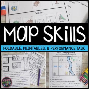 Map Skills (Reading Maps Printables & Map Making Task)