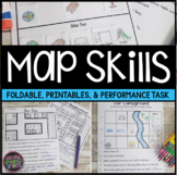 Map Skills Worksheets & Performance Task | Distance Learning