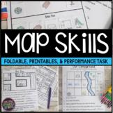 Map Skills Worksheets & Performance Task | Print & Easel