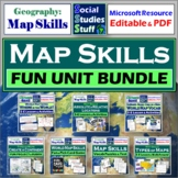 Map Skills 5-E Unit Big Bundle - Fun Activities, Lessons, Games and Project