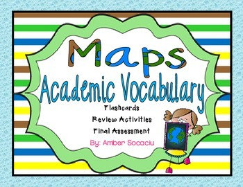 Map Skills Academic Vocabulary Package