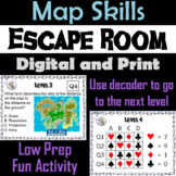 Map Skills Activity Escape Room Geography Game