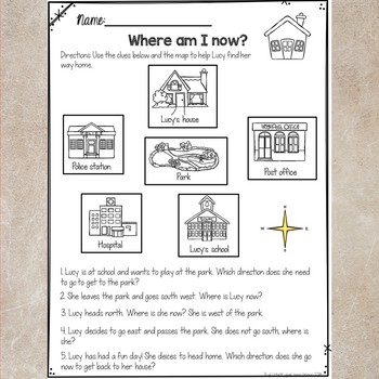 Map Skills- Anchor charts and Journal Notes