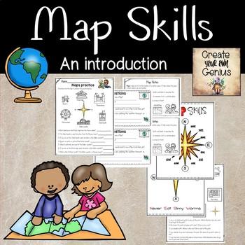 Map Skills- Anchor charts and Journal Notes