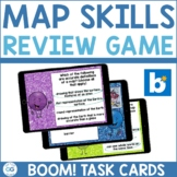 Map Skills Boom Cards™ Review Game   Digital Task Cards  