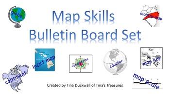 Map Skills Bulletin Board Set