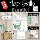 Map Skills Bundle Distance Learning