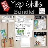 Map Skills Bundle Distance Learning